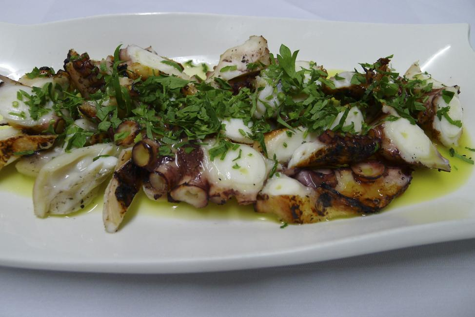 JetDine Menu sf5 - grilled Octopus